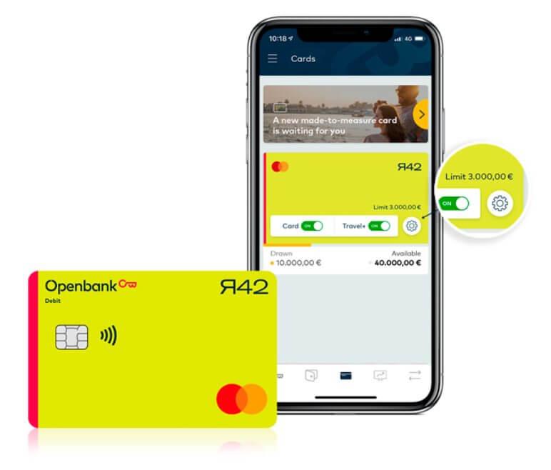 Im Bild die r42-Card der Openbank