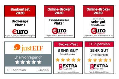 Sechs Auszeichnungen für Online-Broker Smartbroker in einer Reihe